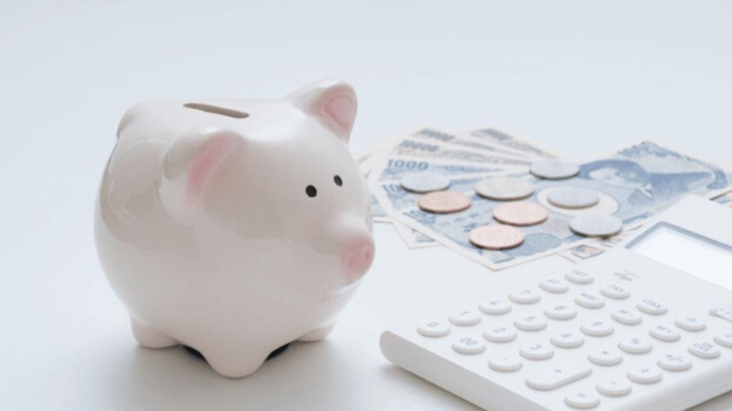 貯金箱と電卓