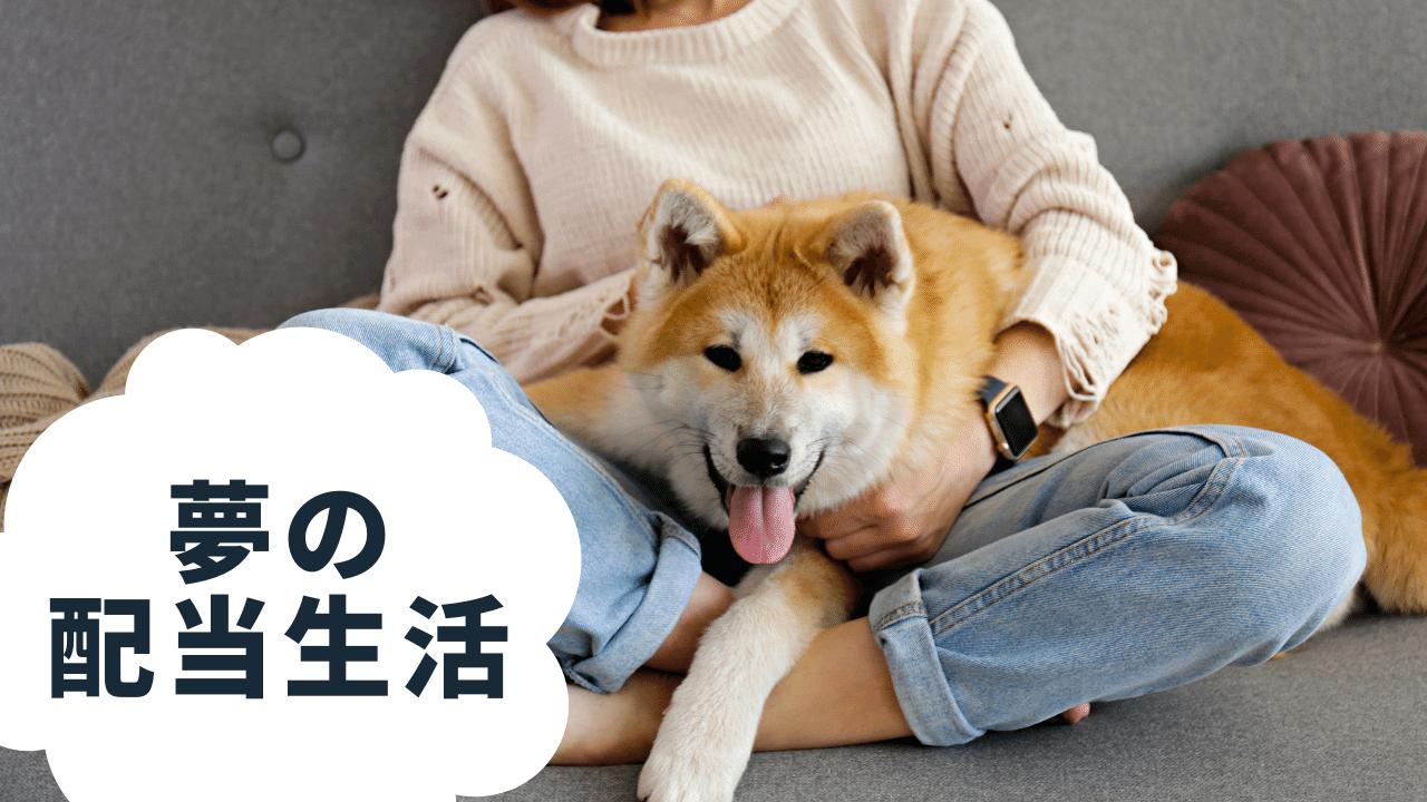 優雅に愛犬と暮らす女性